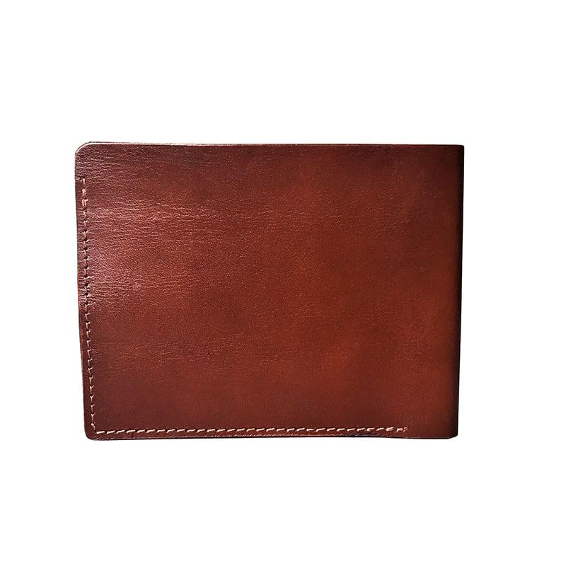 Шкіряний чоловічий гаманець Purse Horses brown leather
