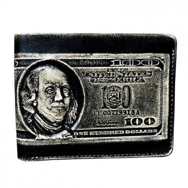 Кожаный кошелек Purse Сash black leather