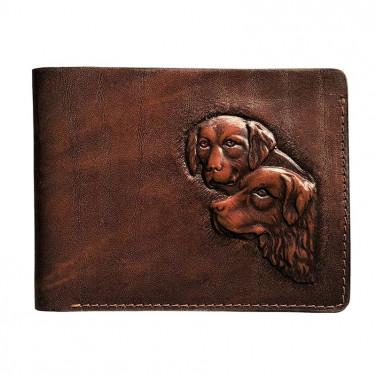 Шкіряне портмоне Purse Hounds brown leather