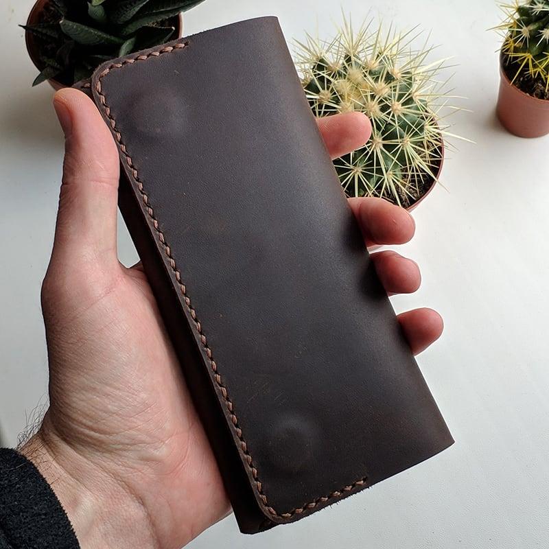 Шкіряне портмоне Purse Chocolate brown leather
