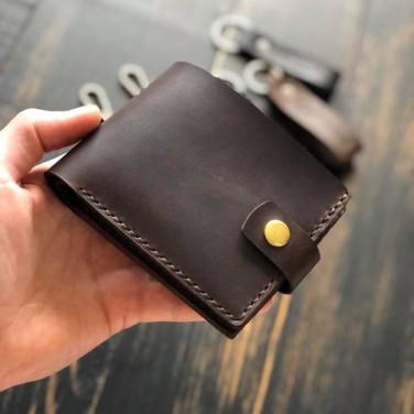 Шкіряне портмоне Purse Smart brown leather