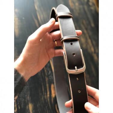 Кожаный ремень Belt Contrast brown leather