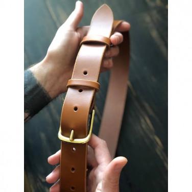 Шкіряний ремінь Belt Caramel brown leather