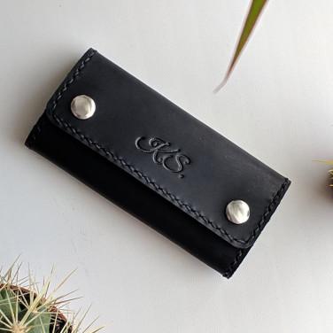 Шкіряна ключниця Key Wallet Compact black leather