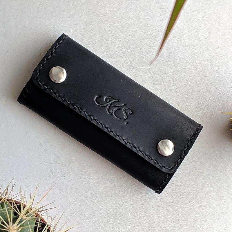 Кожаная ключница Key Wallet Compact black leather