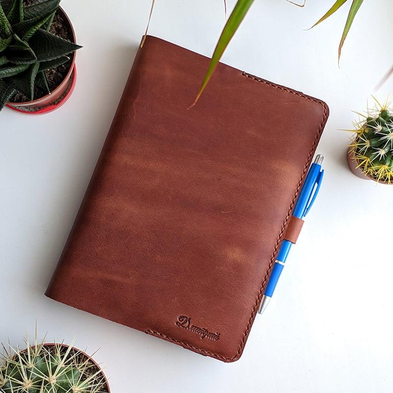 Шкіряна обкладинка для щоденника Élégant brown leather