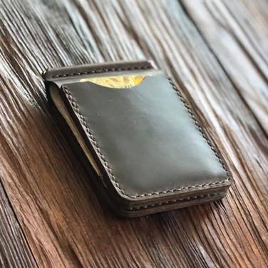 Затиск для купюр Universal brown leather