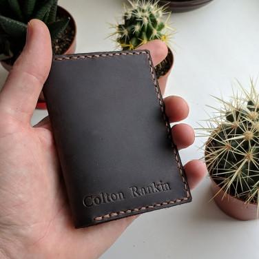 Кожаное портмоне Purse Crazy Horse brown leather