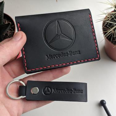 Обкладинка на водійські права Mercedes-Benz black leather
