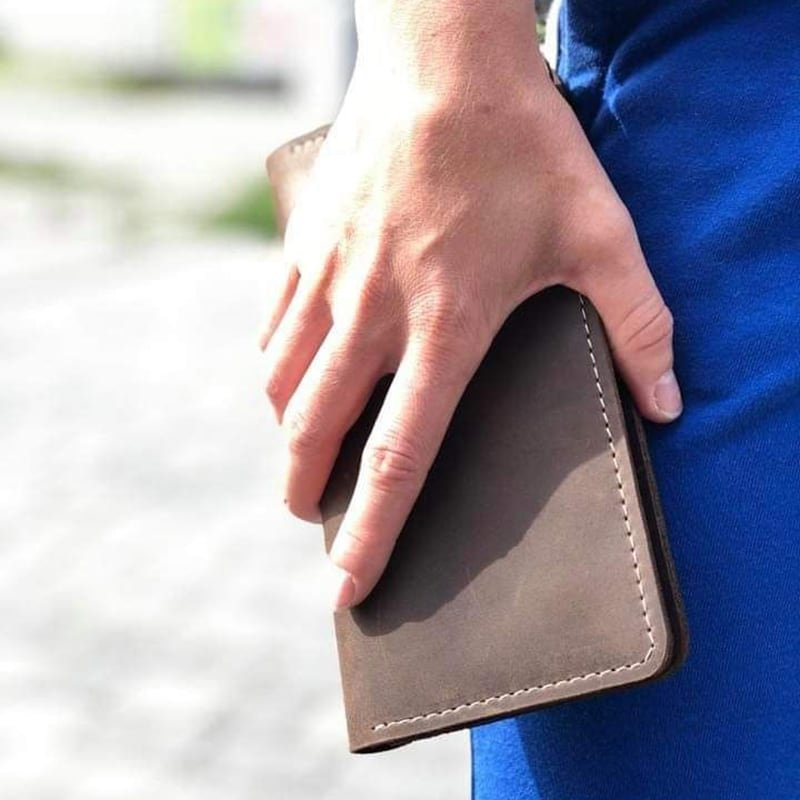 Кожаное портмоне Purse Umber brown leather