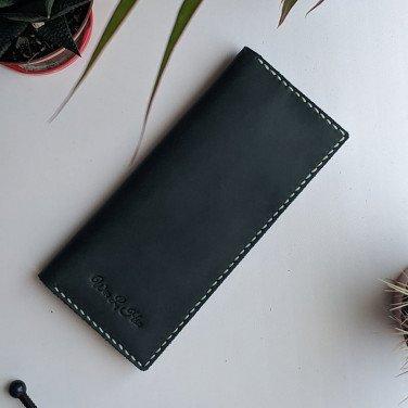 Чоловіче шкіряне портмоне Purse Comfort black leather