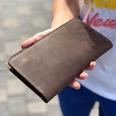 Шкіряне портмоне Purse Umber brown leather