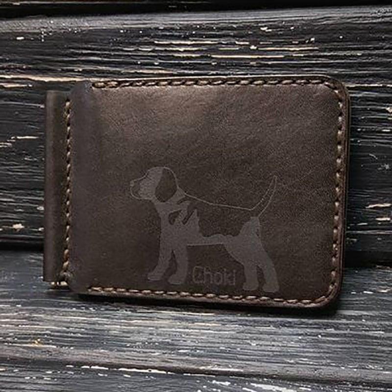 Шкіряний затиск для купюр Wallet My Friend Brown Leather