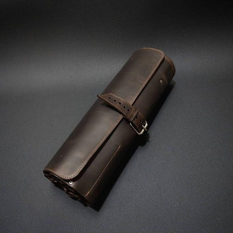 Чехол для ножей кожаный Сhef-Сook Brown Leather