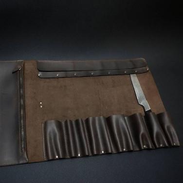 Чохол для ножів Шкіряний Сhef-Соок Brown Leather