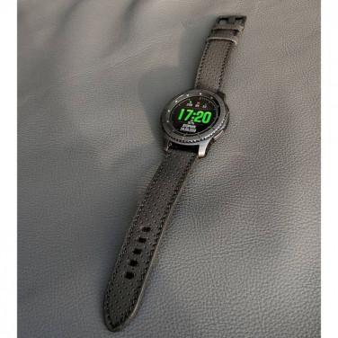 Чоловічий шкіряний ремінець для годинника Perforated Pattern Gray leather