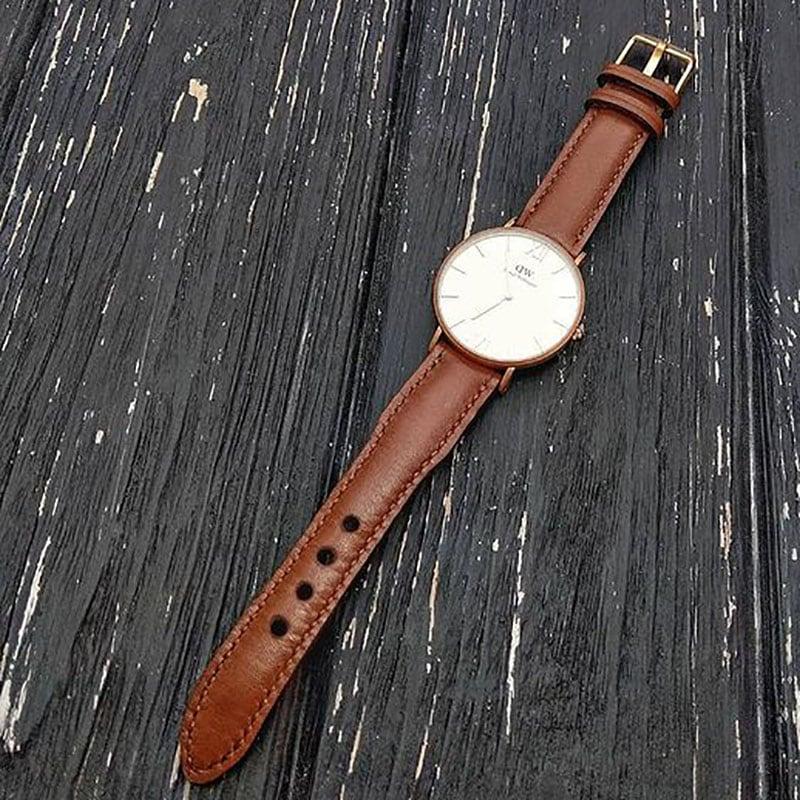 Шкіряний ремінець для годинника Daniel Wellington Brown Leather