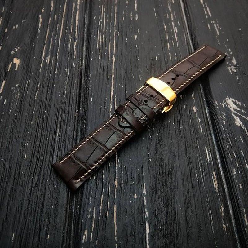 Жіночий шкіряний ремінець для годинника Butterfly Brown Leather