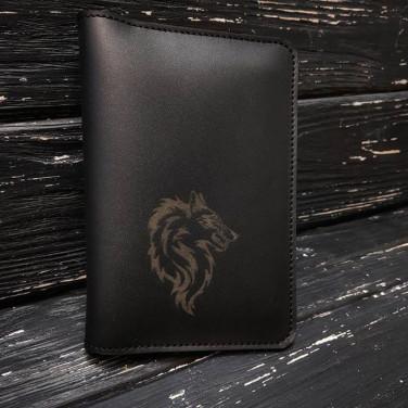 Кожаное портмоне дорожное Travel Оrganizer black leather