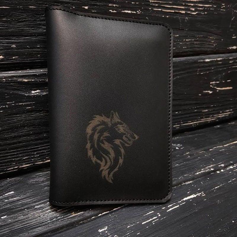 Шкіряне портмоне дорожнє Travel Оrganizer black leather