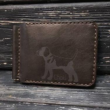 Кожаный зажим для купюр Wallet My Friend Brown Leather