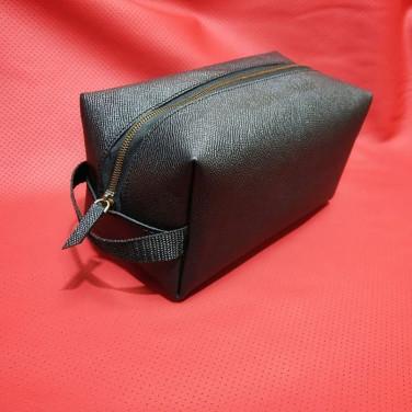 Шкіряний несесер чоловічий Dressing Саѕе black leather