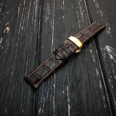 Женский кожаный ремешок для часов Butterfly Brown Leather