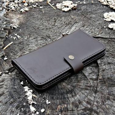 Кожаное мужское портмоне Purse Аuth black leather