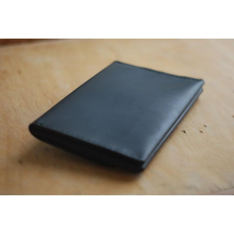 Шкіряний гаманець жіночий ручної роботи Clutch Black Leather