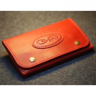 Гаманець жіночий шкіра Clutch Red Leather