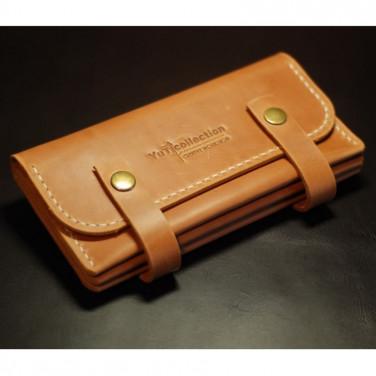 Кошелек женский натуральная кожа Clutch Brown Leather