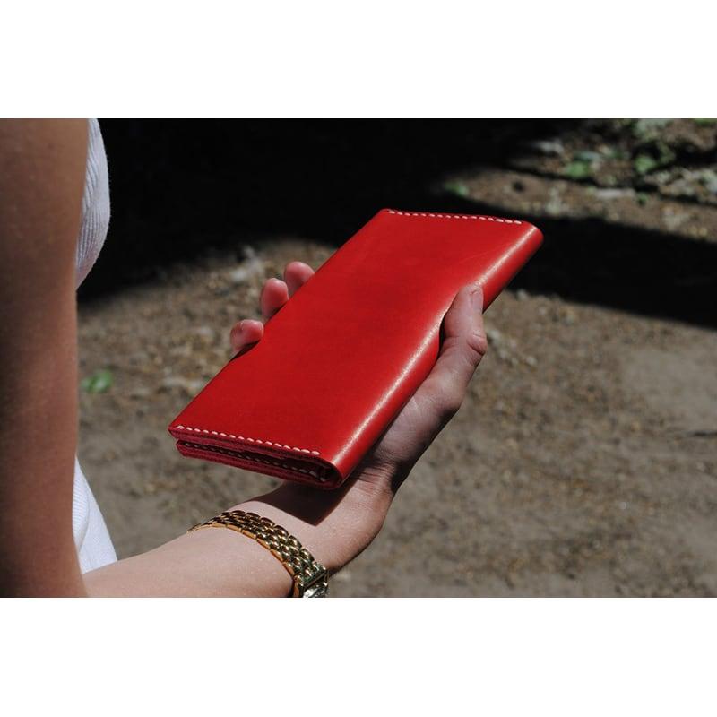 Женский кошелек Purse Ruby red leather
