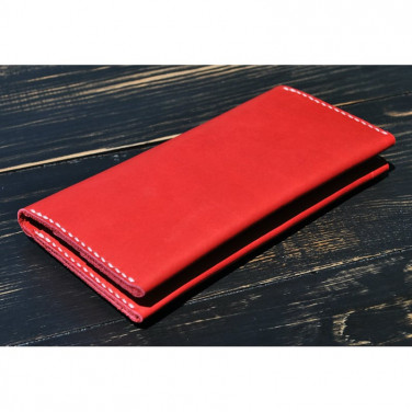 Жіночий гаманець Purse Ruby red leather