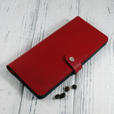 Женский кожаный кошелек Сarmin Рurse red leather