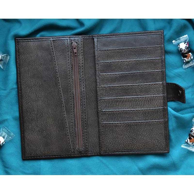 Женский кошелек Purse Panda brown leather