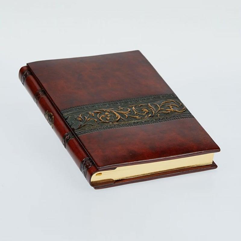 Блокнот шкіряний Arabesque Bronze brown leather