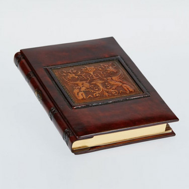 Кожаный блокнот ручной работы женский Florentine Dragon brown leather