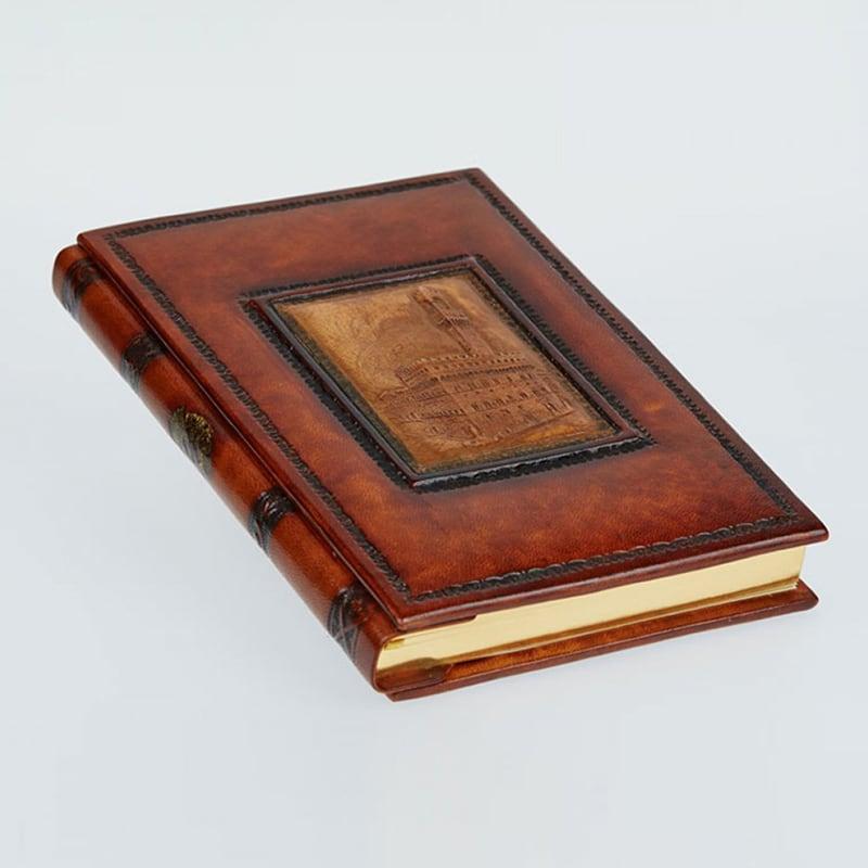 Шкіряний блокнот handmade жіночий Palazzo Vecchio brown leather