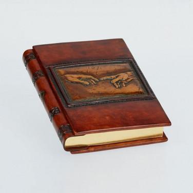 Кожаный блокнот handmade женский Criation brown leather