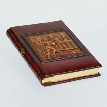 Блокнот в кожаном переплете Romeo and Juliet brown leather