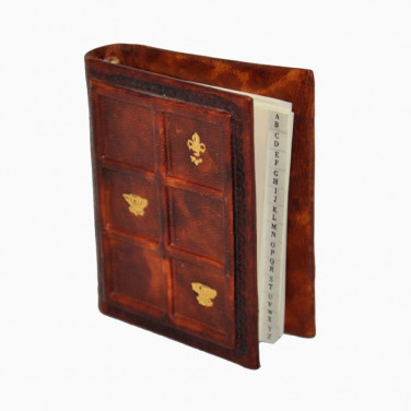 Адресна книга шкіряна Sienna Mosaic brown leather