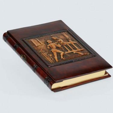 Адресная книга в кожаном переплете Romeo and Juliet brown leather