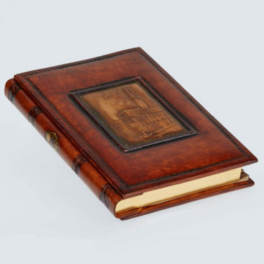 Адресная книга ручной работы Palazzo Vecchio brown leather