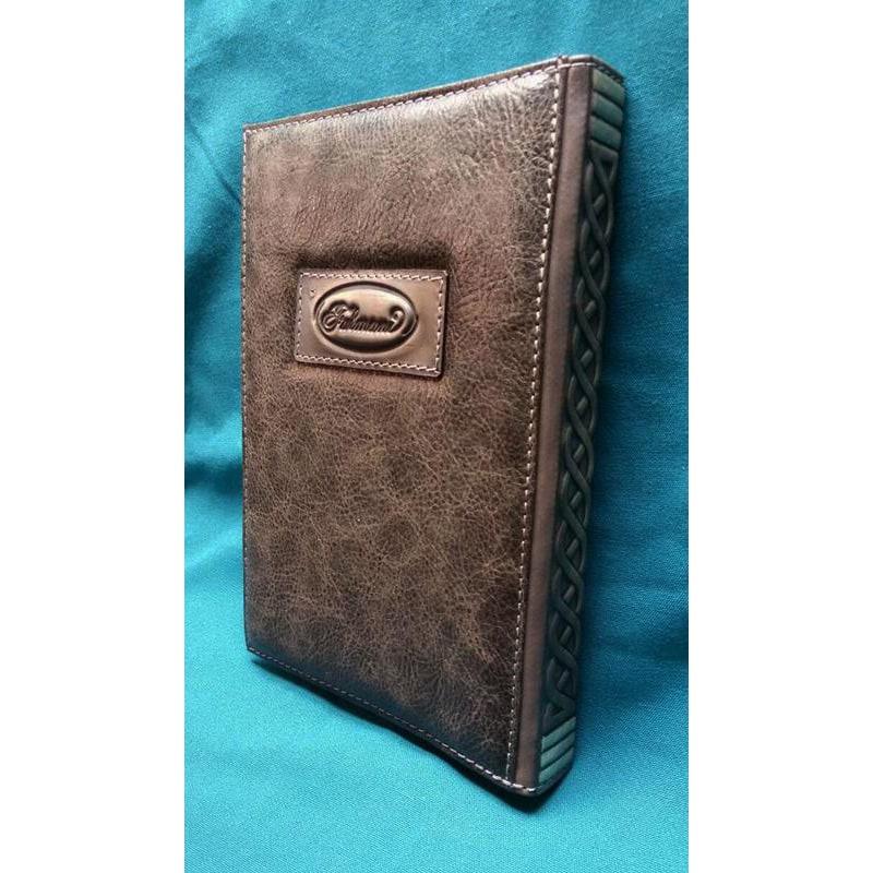 Шкіряний блокнот ручної роботи жіночий Кішка-Сфінськ brown leather
