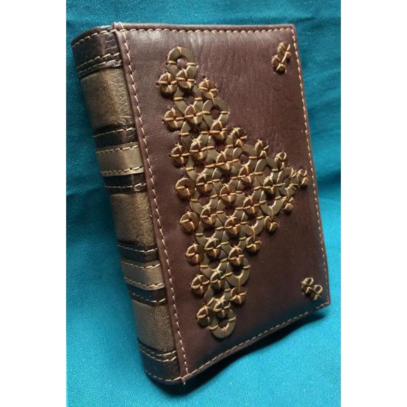 Шкіряний блокнот handmade жіночий Магія Геометрії brown leather
