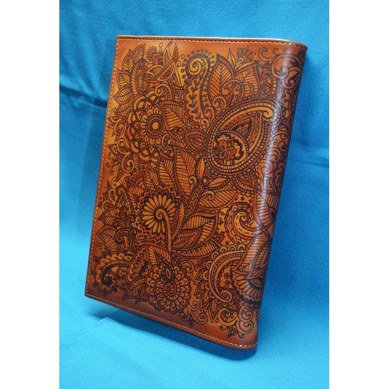 Блокнот в шкіряній палітурці жіночий Менді brown leather