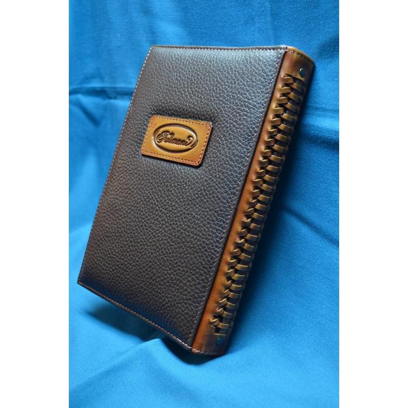 Блокнот в шкіряній палітурці Скарабей brown leather