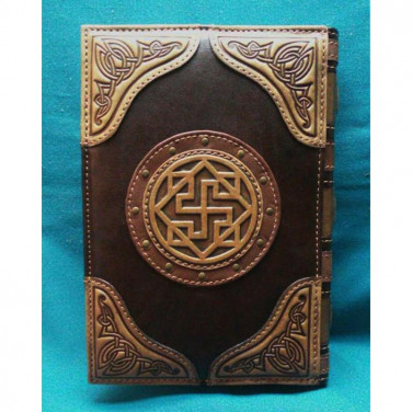 Щоденник у шкіряній обкладинці жіночий Магічна Книга brown leather