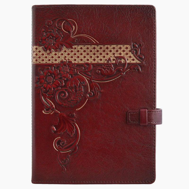 Кожаный блокнот женский Arabesque brown leather