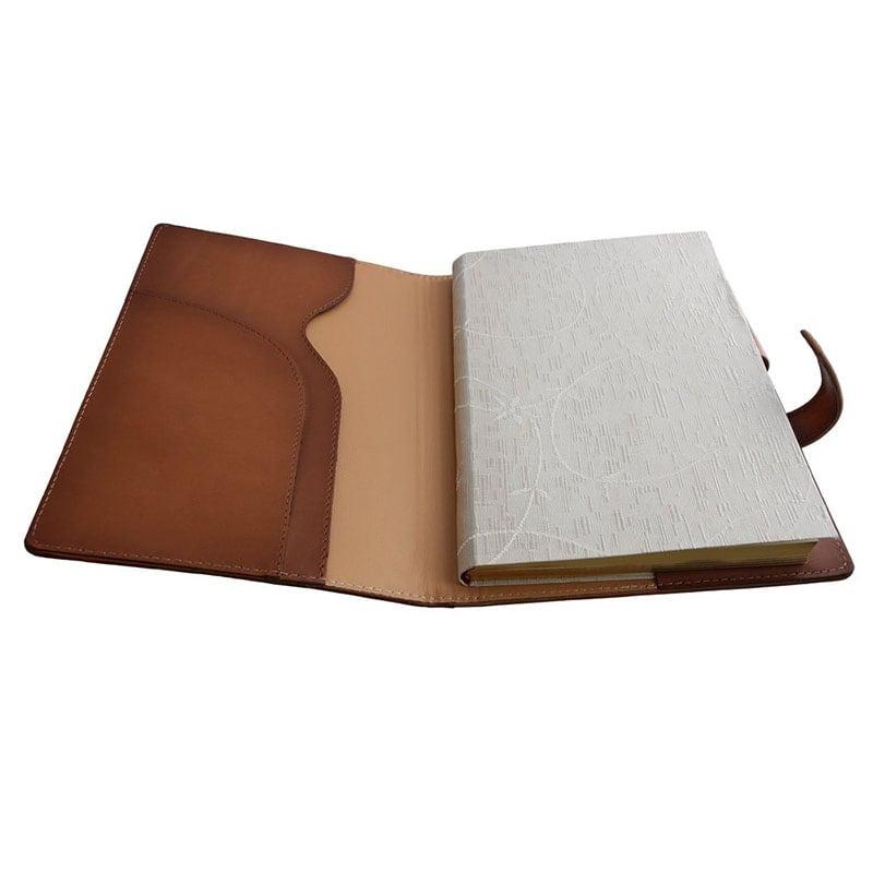 Шкіряний блокнот жіночий Rose Garden brown leather